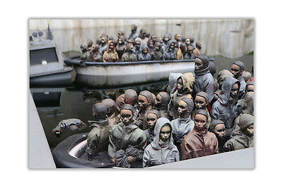 Refugee Boats By Banksy Poster Wall Art Prints Home Decoration Montage