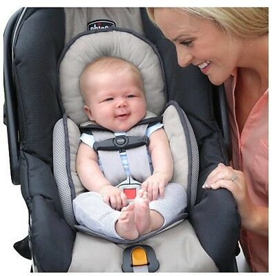 Chicco Infant Baby Car Seat Body Support Insert Reversible Padding Ivory and