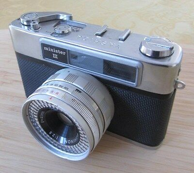 Yashica Minister III 35mm Rangefinder Film Camera with 45mm Lens