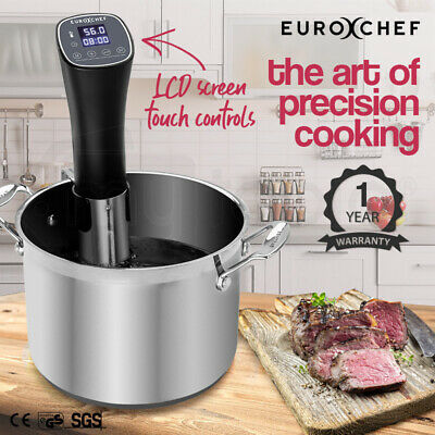 NEW EUROCHEF Sous Vide Cooker Immersion Heater Circulator Precision Slow Kitchen