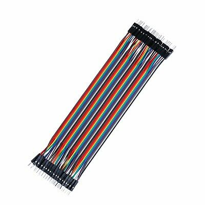 40PCS 1P-1P 2.54mm Male to Male Jumper Wire Dupont Cable 30cm Breadboard New