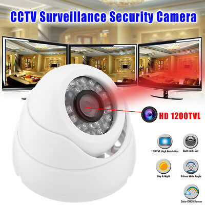 HD 1200TVL CCTV IP IR DVR Night Vision Home Surveillance Security Camera Outdoor