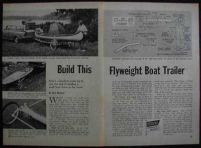 Canoe Trailer How-To Build PLANS Light Weight EasiBuild
