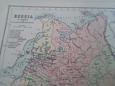 Antique Map 1890 RUSSIA IN EUROPE - From Philips Atlas For Beginners  §14