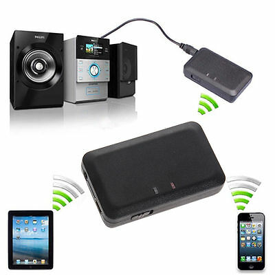 Wireless Bluetooth 3.5mm Audio Stereo Music Home Car Receiver Adapter Mic