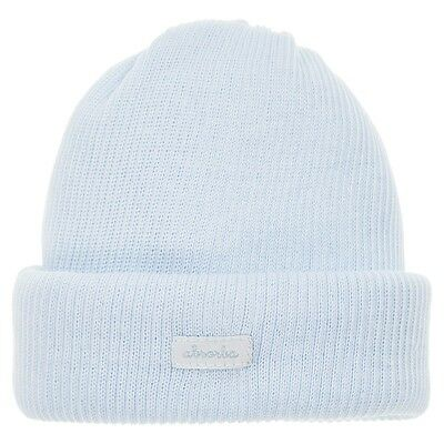 Outlet Absorba Baby Boys' Pale Blue Ribbed Cotton Hat 1-3 Months RRP £8 New