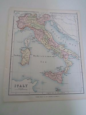 Antique Map 1890 ITALY - From Philips Atlas For Beginners  §16