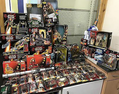 Star Wars Huge Episode 1 Figure, Vehicle, Playset & more LOT - USED