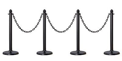 PLASTIC STANCHION IN BLACK + 32 CHAIN, Crowd Control Center, 4 PCS C-HOOK