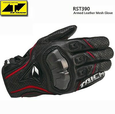 Mens Motorcycle XL L M RST390 Perforated leather Mesh Gloves RS Taichi 3 Color