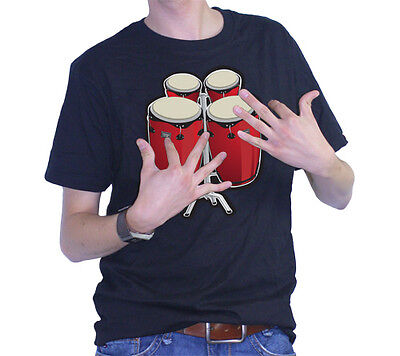 ThumbsUp Electronic Bongo Drums with Real Sound T-Shirt - XL