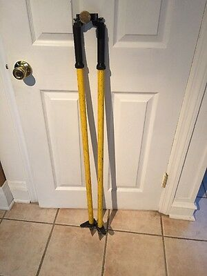 Yellow Surveying Quick Release Prism Pole Bipod Pre Owned