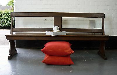 Good Welsh Victorian Pitch Pine Variable Church Bench C1880