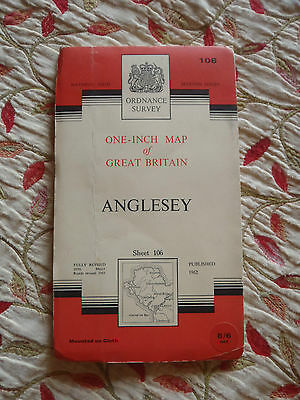 Ordnance Survey one inch map: Cloth edition Sheet 106 Anglesey