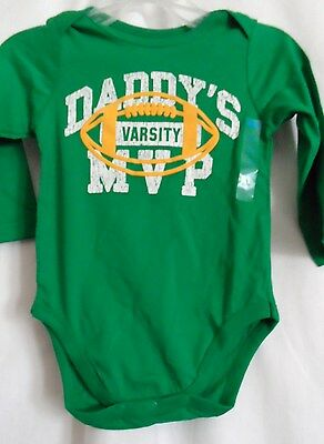 Boys 12-18 Month Daddy Varsity Mvp Green Creeper Shirt Nwt The Children's Place