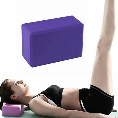 2 x BodyRip Pilates Yoga Block Foaming Foam Brick Exercise Stretching Purple