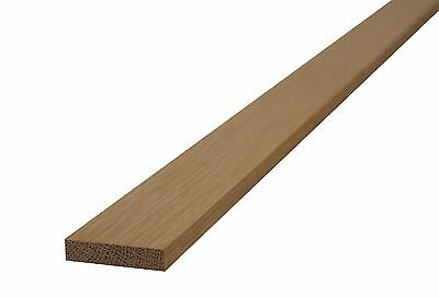 OAK EDGE BEAD - FLAT  6mm x 18mm - (2.0m LONG) strip edging/veneer/panel beading