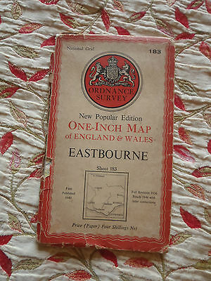 Ordnance Survey one inch map: Paper edition Sheet 183 Eastbourne