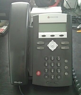 Polycom SoundPoint IP 335 internet VoIP busineess phone with PoE