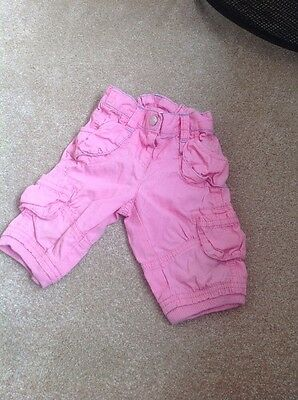 Girls Pink Summer Cropped Trousers From Next 6-9 Months