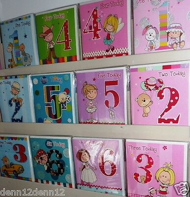 'SILLY BILLY' AGE CARDS FOR KIDS X 72, JUST 21p, 12 designs ages 1-6 boy / girl