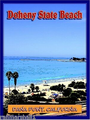 Doheny State Dana Point Beach California United States Travel Art Poster Print