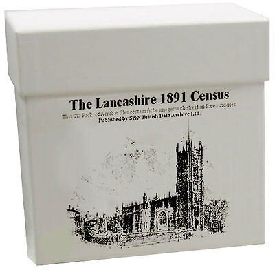 Lancashire 1891 Census LICENCED CD SET S&N Direct