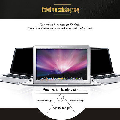 Privacy Protective Film For 13 inch Widescreen(16:9) Laptop Monitor/Notebook AU