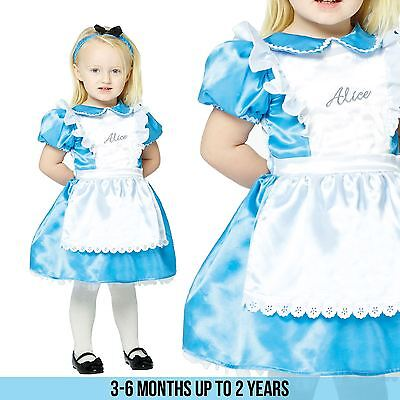 Licensed Alice in Wonderland Fairytale Kids Girls Fancy Dress Costume Book Week