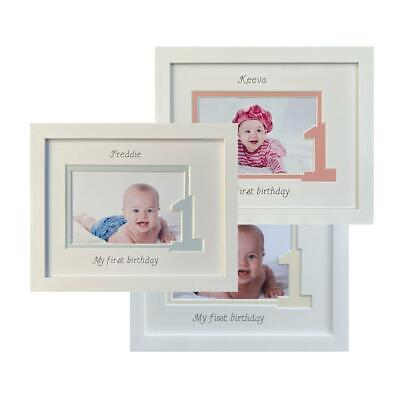 Personalised First Birthday Photo Frame Age 1