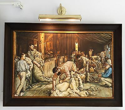 Tom Roberts homage Oil Painting Shearing the Rams