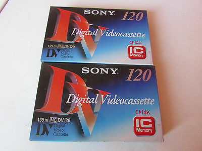 Sony 2 Digital Videocassettes Camescope 120 Neuf