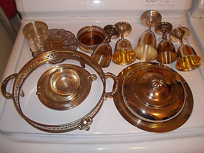 Vintage Mixed Lot of 12 SILVERPLATE Goblets Bowls Stands