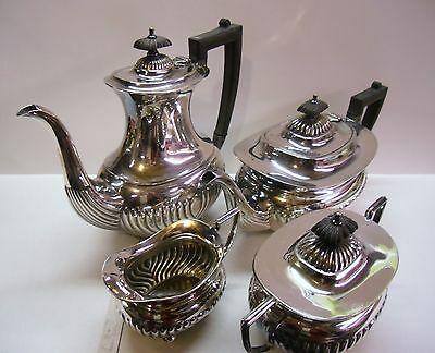 Vintage silver plated four piece set