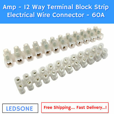 2/3/5 Way Connector Wire Reusable Spring Lever Terminal Block Electric Cable