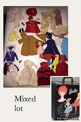 1960's Vintage Barbie Lot Of Clothes, Accessories And Case