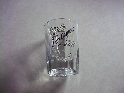 Vintage JACK DANIEL'S Old Sour Mash Tennessee Whiskey HEAVY Shot Glass -  Bar