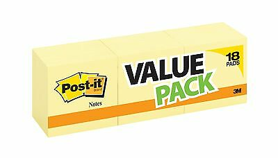 Post-it Notes 3 in x 3 in Canary Yellow 14 Pads/Pack + 4 Free Pads 18 Pads To...