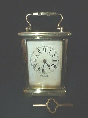 Vintage French Made For Selfridge London Carrage Clock - Working