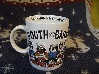 South Park Mug SOUTH BARK Coffee Cup Stan Cartman Chef Kenny 1998 Big Dogs