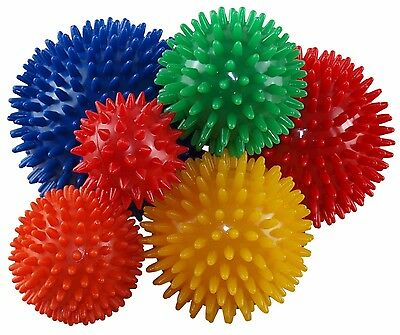 2 x Spikey Massage Balls Myofascial Trigger Point Release Yoga Stress Pilates