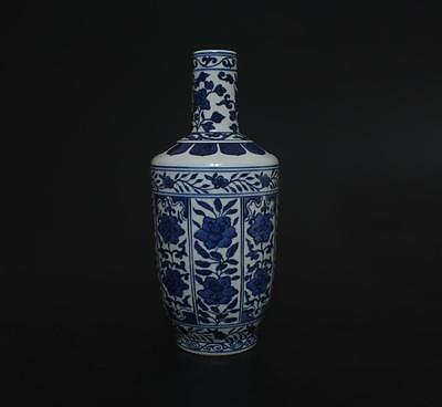 Superb Antique Chinese Porcelain Blue And White Vase Qianlong Marked s138
