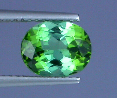 2ct FLAWLESS TOP QUALITY BEAUTIFUL GREEN NATURAL TOURMALINE AFGHANISTAN