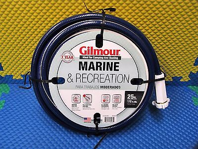 Gilmour Marine & Recreation 25 ft. Hose 1/2 in. dia. Blue/White 839-800