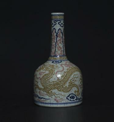 Superb Antique Chinese Porcelain Dragon Vase s243