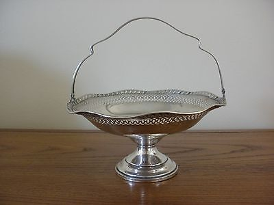 LADY ATKINS Vintage STERLING COMPOTE w HANDLE Scalloped Edge VERY NICE        79