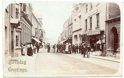 1909  CARDIGAN High Street  Animated Excelsior Photo Co Postcard