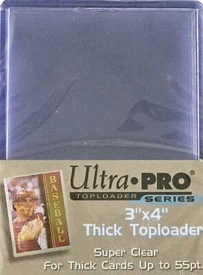 (25) Ultra Pro Thick 55pt Toploaders Action Packed Topload Card Holders 3x4 MLB