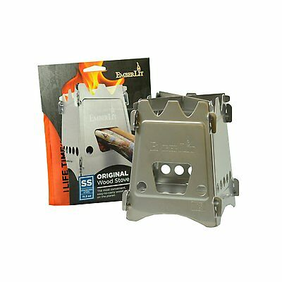 Emberlit Stainless Steel stove,Compact Design Perfect for Survival, Camping, &