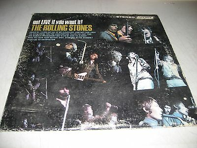 THE ROLLING STONES GOT IT LIVE IF YOU WANT IT LP EX London PS-493 1966